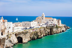 View of Vieste, Italy. Beautiful panoramic view of Vieste, Italy Stock Images