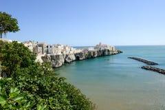 View of Vieste on Puglia Royalty Free Stock Photos