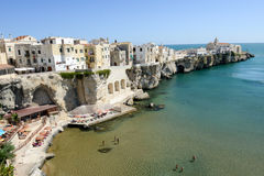 View of Vieste on Puglia Stock Photography