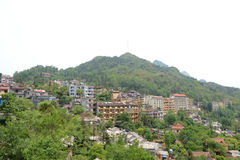 View of vietnamese city. Environs of vietnamese mountain city royalty free stock images