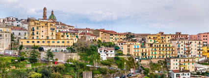 View of Vietri Sul Mare town on the Amalfi coast Royalty Free Stock Photos