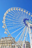 View of Vieux Port and Ferry Wheel. Landmark royalty free stock photos