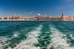 View of the Vieux Port - old port of Marseilles Stock Photos