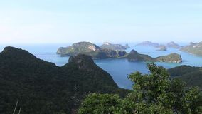 View from view point in Mu Ko Ang Thong National Marine Park, Thailand. stock footage