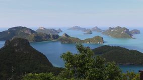 View from view point in Mu Ko Ang Thong National Marine Park, Thailand. stock video footage