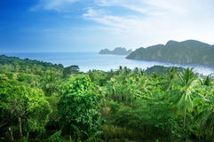 View from view point of  Phi-Phi island Royalty Free Stock Images