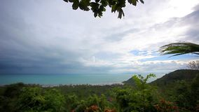 View from view point of Samui island in Thailand stock video footage