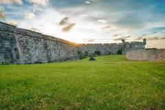View of View of 'El Morro' fortress wall Royalty Free Stock Photos