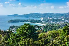 View of the Andaman Sea from the viewing point, Phuket. View from viewing point, Phuket , South of Thailand Stock Photography