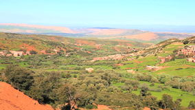 View at the viewpoint of atlas mountain. In morocco stock video footage