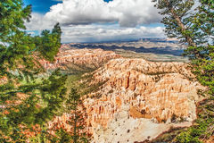 View from viewpoint of Bryce Canyon. Utah. USA Stock Photos