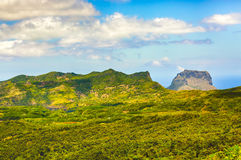 View from the viewpoint. Mauritius. Royalty Free Stock Images