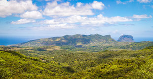 View from the viewpoint. Mauritius. Panorama Royalty Free Stock Photos