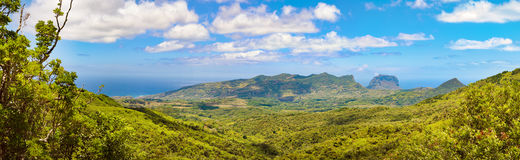 View from the viewpoint. Mauritius. Panorama Stock Photo