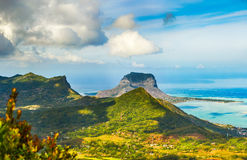View from the viewpoint. Mauritius. Panorama Stock Images