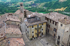 View of Vigoleno. Emilia-Romagna. Italy. Stock Image