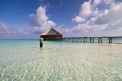 View of vilamendhoo island in the Indian Ocean Maldives Royalty Free Stock Image