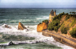 View on Villa Belza in Biarritz - France Royalty Free Stock Photos