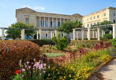 The view of Villa Bighi with garden. Kalkara. Malta Royalty Free Stock Images
