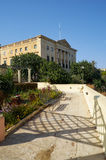 The view of Villa Bighi with garden. Kalkara. Malta Royalty Free Stock Image
