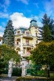 View on villa in Carlovy Vary Stock Photos