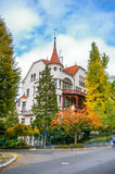 View on villa in Carlovy Vary Stock Images