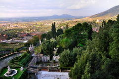 View from Villa d'Este stock image