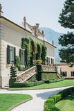 View of Villa del Balbianello, Lenno, Lake Como, Italy. royalty free stock photo