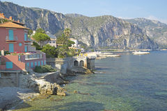 View from the Villa Kerylos, located on Pointe des Fourmis, in Beaulieu-Sur-Mer, France Royalty Free Stock Photos