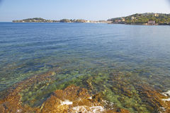View from the Villa Kerylos, located on Pointe des Fourmis, in Beaulieu-Sur-Mer, France Stock Photos