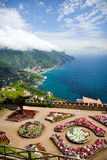 View from Villa Rufolo gardens in Ravello, Italy royalty free stock images