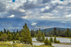 View from Villach Alpine road, Austria Royalty Free Stock Photo