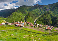 View of the village Adishi Royalty Free Stock Images