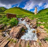 View of the village Adishi Royalty Free Stock Photography