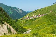 View of the village Adishi, Georgia Royalty Free Stock Photography