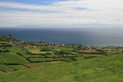 View on village on Azores Royalty Free Stock Images
