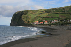 View on village in Azores Stock Photography
