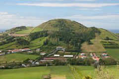 View on village in Azores Stock Photos