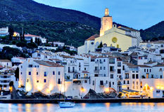 View of village of Cadaques, Costa Brava, Spain Royalty Free Stock Photography