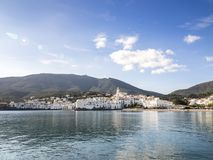Evening in Cadaques. View of the village of Cadaques Spain in the mediterranean sea Stock Images