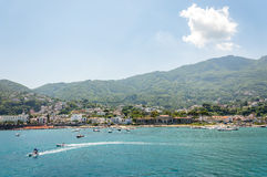 View of the village of Casamicciola on Ischia Island Royalty Free Stock Photos