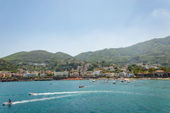 View of the village of Casamicciola on Ischia Island Royalty Free Stock Image