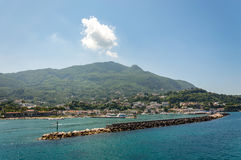 View of the village of Casamicciola on Ischia Island Stock Photo