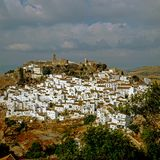 Village Casares in Andaluzia, Spain. View of village Casares in Spain Royalty Free Stock Photo