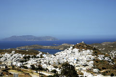 View of the village of Chora in Ios island. Stock Photography