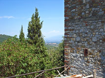 A view from  the  village  Civitella in Italy. Stock Photos