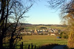 View of the village of Ethe Royalty Free Stock Photo