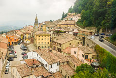 View of the village from the fortress of San Marino Republic Royalty Free Stock Images