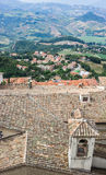 View of the village from the fortress of San Marino Republic Royalty Free Stock Photography