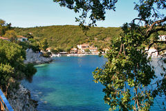 View of Village of Frikes, Ithaca,  Ionian island Royalty Free Stock Photos